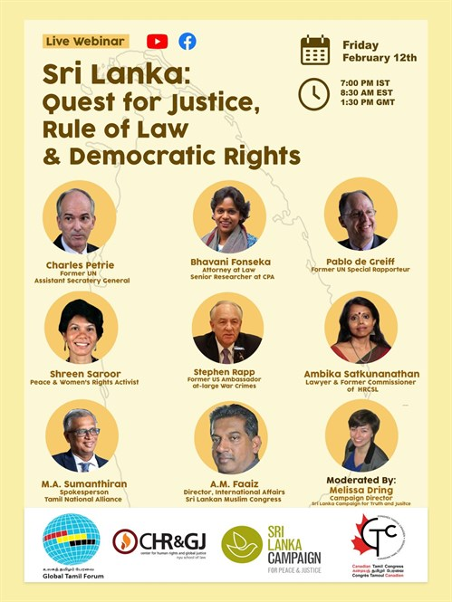 Live Webinar Sri Lanka Quest For Justice Rule Of Law Democratic Rights